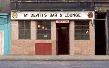 Exterior view of McDevitts Bar and Lounge 1980s.