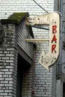 Mitre Bar's neon Sign