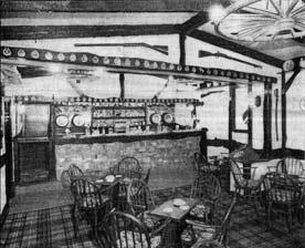 Montgomerie Arms interior 1957