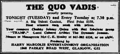 Quo Vadis advert 1974