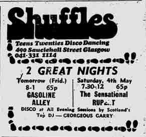 Shuffles advert