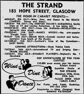 Stand Hope Street advert 1974