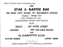 Star & Garter Advert1