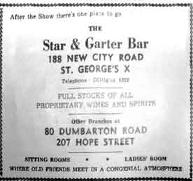 Advert for the Star & Garter