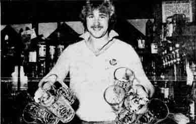 Alan Rough at Macintoshe's Bar 1978