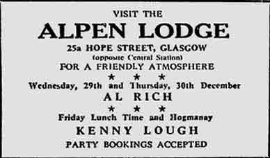Alpen Lodge advert 1976