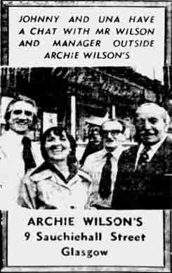 Archie Wilsons  advert 1976