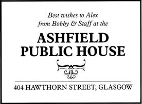 Ashfield Bar Advert