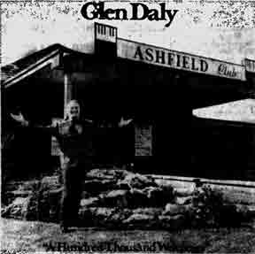Glen Daly at the Ashfield Club 1972