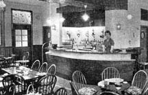 Interior view of the new lounge 1956