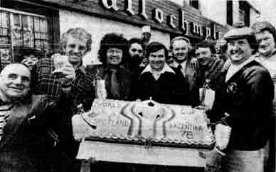 Group outside the Ballochmyle Bar Duke Street 1978