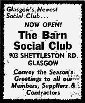 Barn Club advert 1972