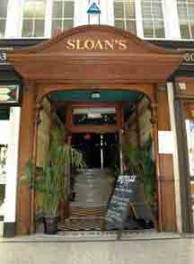 doorway of Sloans