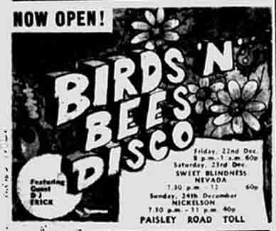 Birds and Bees Paisley Road Toll