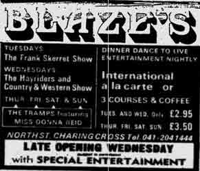 Blazes advert 1976