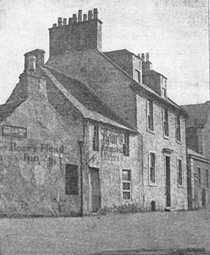 exterior view of what the Boar's Head Inn would look like