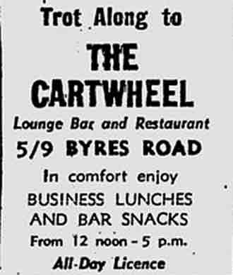 The Cartwheel 5/9 Byres Road advert 1979