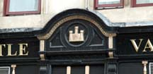 Castle Vaults logo above the door