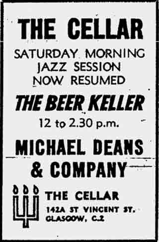 The Cellar Advert 1970