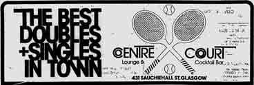 Centre Court advert 1979