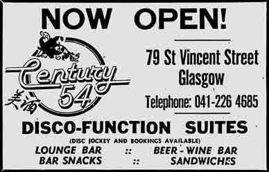 Century 54 advert 1978