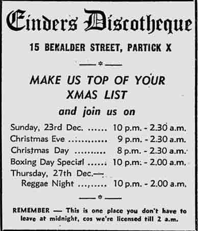 Cinders advert 1979