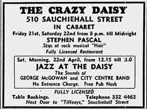 Crazy Daisy advert 1972