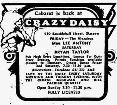 Crazy Daisy's Advert 1975