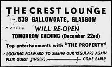 The Crest Advert Gallowgate