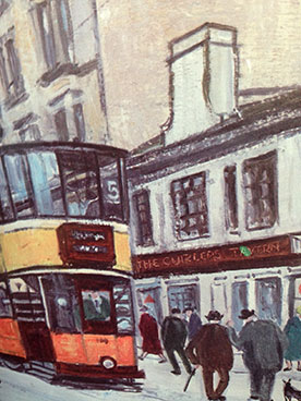 Painting of the Curlers Tavern Byres Road from USA