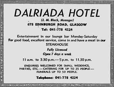 Dalriada advert 1976