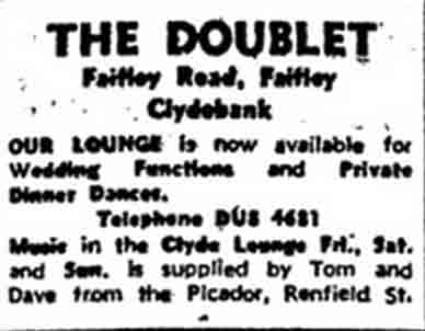 Advert for the Doublet Faifley 1970
