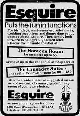 Esquire House advert 1978