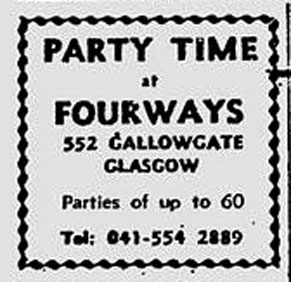 fourways Gallowgate advert 1975
