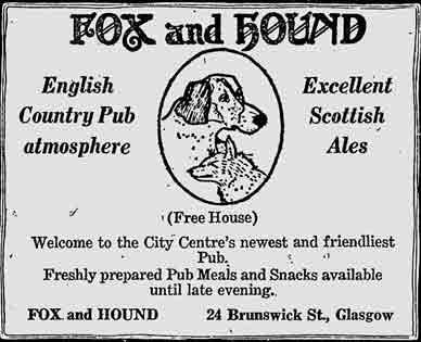Fox and Houd advert 1979