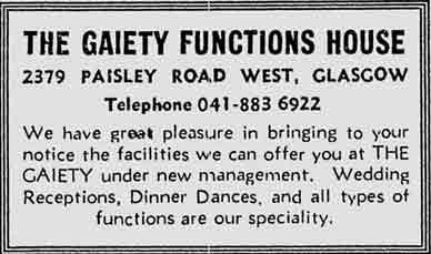 Gaiety advert 1977