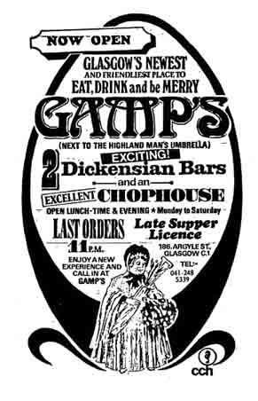 Gamps advert 1971