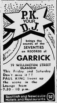 Garrick Advert 1972