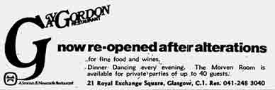 Gay Gordon Advert 1970