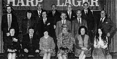 Glasgow Licensees visit Harp lager 1973