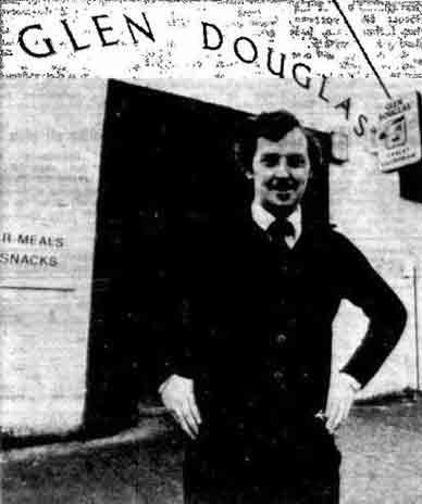 Seamus outside the Glen Douglas bar in Lambhill 1979