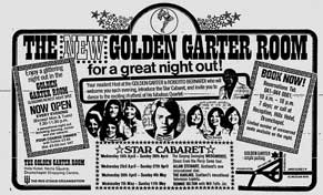Golden Garter advert 1975