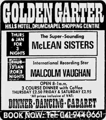 Golden Garter advert 1977