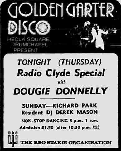 Golden Garter advert 1979