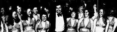 Frank Deerey and the Golden Garter girls 1975