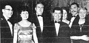 image of the Gorbals Ward with Mr & Mrs Reid; Mr P Smith; Mr M J Heraghty; Mrs P Smith; Mr H Scoffin; and Mrs N Derbyshire 1963.
