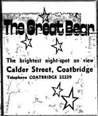 Advert for the Great Bear Coatbridge