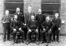 Staff at the Greenhead Brewery 1890