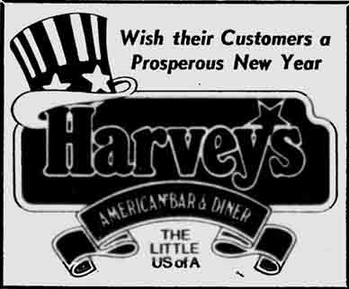 Harvey's Park Terrace advert 1977