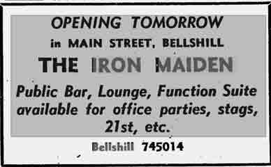 Iron Maiden ad 1977